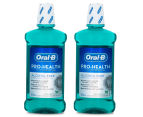 2 x    Oral-B Pro-Health Tooth & Gum Care Mouth Rinse Fresh Mint 500mL 1