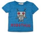 BQT Baby Robot Hug Tee - Denim Marle 1