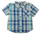 Funky Babe Baby Check Shirt With Pocket - Royal 1