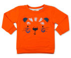 BQT Baby Animal Face Tracksuit 2Pc Set - Orange 2