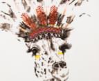 Funkybabe Girls' Giraffe T-Shirt White 3