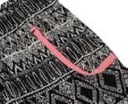 Funky Babe Girls' Mono Print Board Shorts - Black/White 3