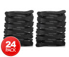 2 x Comfortel Professional Carbon Fibre Sectioning Clips 12-Pack - Black 1