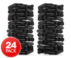 2 x Comfortel Professional Carbon Fibre Crocodile Clips 12-Pack - Black 1