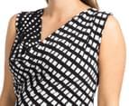 Ripe Maternity Trellis Dress - Black/White 6