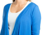 Ripe Maternity Layer It Up Twist Cardi - Blue Belle 6