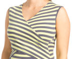 Ripe Maternity Striped Embrace Nursing Tank - Grey/Yellow 6