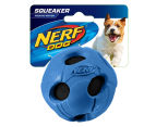 NERF Dog Medium Squeaker Bash Tennis Ball - Blue 1