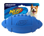 NERF Dog Large Squeaker Rubber Football - Blue 1