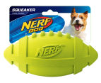 NERF Dog Large Squeaker Rubber Football - Green 1