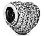 Pandora Pavé Heart Charm - Silver/Clear 1