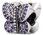 Pandora Sparkling Butterfly Charm - Silver/Purple 2
