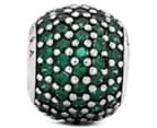 Pandora Pavé Lights Ball Charm - Silver/Green 3