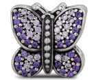 Pandora Sparkling Butterfly Charm - Silver/Purple 3