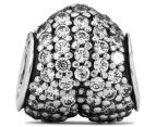Pandora Pavé Heart Charm - Silver/Clear 4