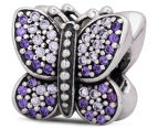Pandora Sparkling Butterfly Charm - Silver/Purple 5