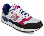 New Balance Women's 530 Classic Sneaker - White/Blue/Fuchsia 2