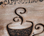 Distressed Cappuccino 40x40cm Framed Wooden Wall Hanging 5