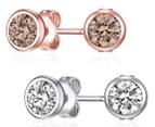 Mestige Lila Earring Set - Silver/Rose 1