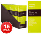 15 x The Chocolate Counter Almond & Amaranth Dark Chocolate Bar 50g 1