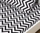 Living Textiles Baby 2-Piece Chevron Cot Sheet Set - Black 2