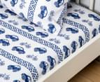 Living Textiles Baby 2-Piece Car Cot Sheet Set - Navy Blue 2