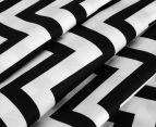 Living Textiles Baby 2-Piece Chevron Cot Sheet Set - Black 3