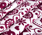 Living Textiles Baby 2-Piece Birds Cot Sheet Set - White/Plum 3
