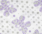 Living Textiles Baby 2-Piece Butterfly Cot Sheet Set - Purple 4