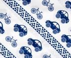 Living Textiles Baby 2-Piece Car Cot Sheet Set - Navy Blue 4