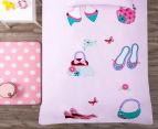 Happy Kids Dress Me Up Single Bed Quilt Cover Set - Pink 2