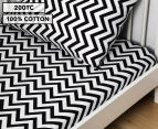 Living Textiles Baby 2-Piece Chevron Cot Sheet Set - Black 1