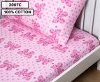 Living Textiles Baby 2-Piece Butterfly Cot Sheet Set - Pink 1