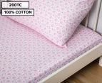 Living Textiles Baby 2-Piece Hearts Cot Sheet Set - Pink 1