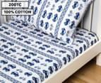 Living Textiles Baby 2-Piece Car Cot Sheet Set - Navy Blue 1