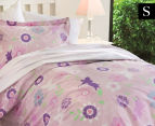 Happy Kids Fairy Wonderland Single Bed Printed Quilt Cover Set - Pink 1