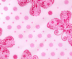 Living Textiles Baby 2-Piece Butterfly Cot Sheet Set - Pink 4