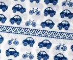 Living Textiles Car Smart-Swaddle Muslin Wrap - Navy Blue 2