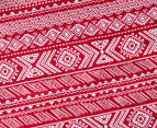 Living Textiles Smart-Swaddle Muslin Wrap Tribal - Red 2