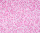 Living Textiles Birds Smart-Swaddle Muslin Wrap - Pink 2