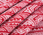 Living Textiles Smart-Swaddle Muslin Wrap Tribal - Red 3