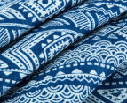 Living Textiles Tribal Smart-Swaddle Muslin Wrap - Navy Blue 3