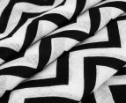 Living Textiles Chevron Smart-Swaddle Muslin Wrap - Black 4