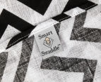 Living Textiles Chevron Smart-Swaddle Muslin Wrap - Black 5