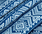 Living Textiles Tribal Smart-Swaddle Muslin Wrap - Navy Blue 4