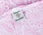 Living Textiles Henna Smart-Swaddle Muslin Wrap  - Pink 5