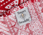 Living Textiles Smart-Swaddle Muslin Wrap Tribal - Red 5