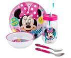 Zak! Minnie Mouse 5-Piece Meal Set - Pink 1