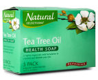 2 x Natural Selections Repairing Tea Tree Oil Health Soap 5pk  2