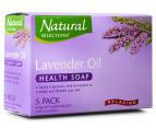 2 x Natural Selections Relaxing Lavender Oil Health Soap 5pk 2